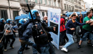 scontri no vax roma