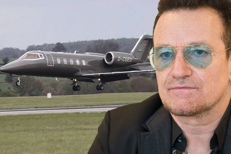 Jet Privato Nero : Bono e il suo jet privato dago fotogallery