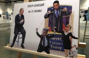 putin e il teatro delle marionette obama poroshenko merkel