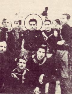 Renato Guttuso ai ittoriali di Palermo in divisa del GUF