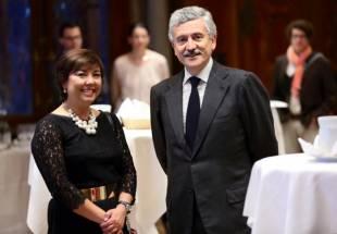 shadya avec lex premier ministre italien dalema