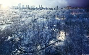 central park snow new york