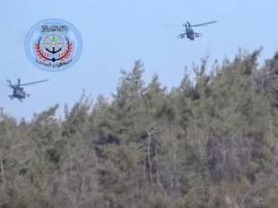i due elicotteri russi che cercavano il pilota abbattuto