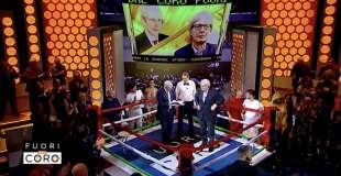 mario giordano e vittorio sgarbi sul ring a fuori dal coro 14
