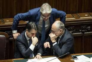 GIUSEPPE CONTE PAOLO GENTILONI ROBERTO GUALTIERI
