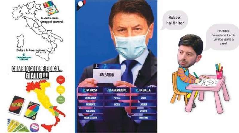 ITALIA DIVISA IN ZONE - MEME