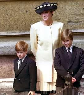 la principessa diana, william e harry