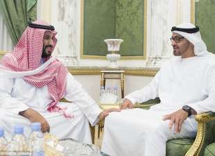 saudi arabia s crown prince mohammed bin salman left and de facto united arab emirates ruler mohammed bin zayed right getty images