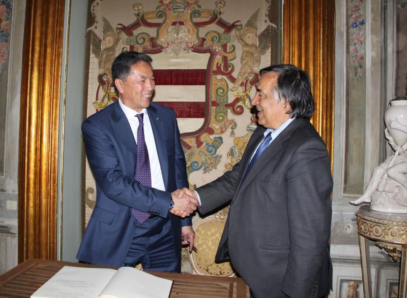 Ambasciatore Kazakistan YELEMESSOV E LEOLUCA Orlando