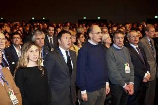 ASSEMBLEA PD PRIMA FILA MADIA RENZI LETTA