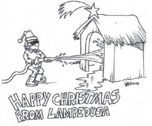 HAPPY CHRISTMAS FROM LAMPEDUSA VAURO