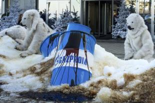 PROTESTA DI GREENPEACE CONTRO GAZPROM