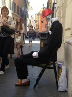 statua vivente a roma