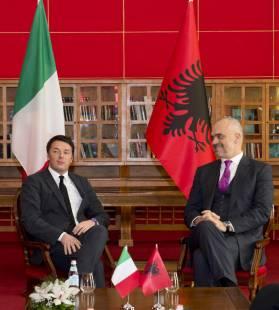 matteo renzi ed il premier albanese edi rama 1