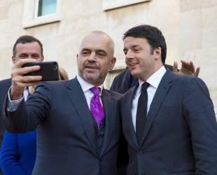 matteo renzi ed il premier albanese edi rama 4