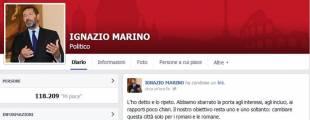 pagina facebook ignazio marino