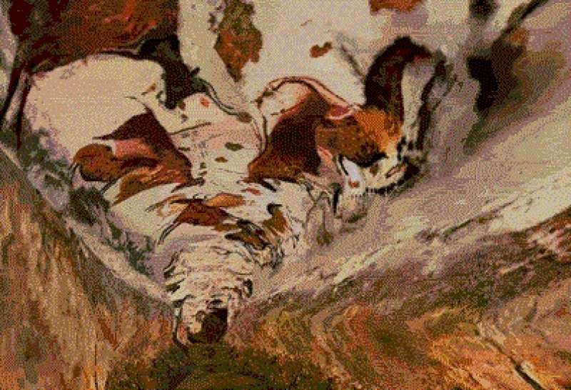 caveart at lascaux As with all cave art lascaux displays a limited theme, although it does so spectacularly it is, in the main, an art of large, noisy prey.