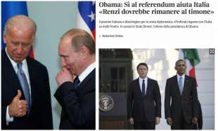 JOE BIDEN PUTIN RENZI OBAMA