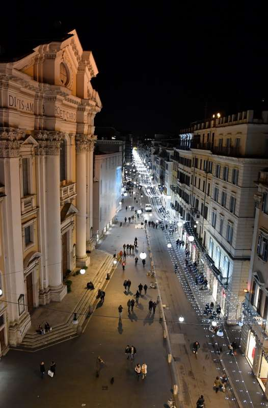 Via Del Corso Vista Dalla Terrazza Della Lanterna Di Fuksas