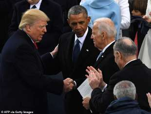 donald trump, barack obama e joe biden