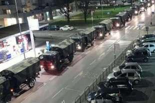 i camion militari a bergamo