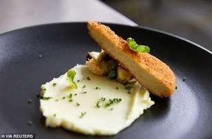 piatto cucinato con il pollo coltivato in laboratorio di eat just