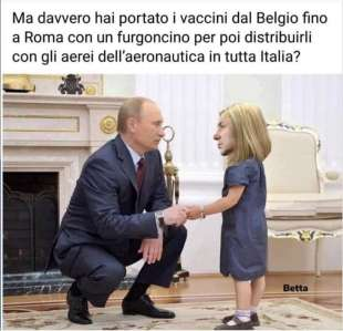 Putin Conte - vaccino show