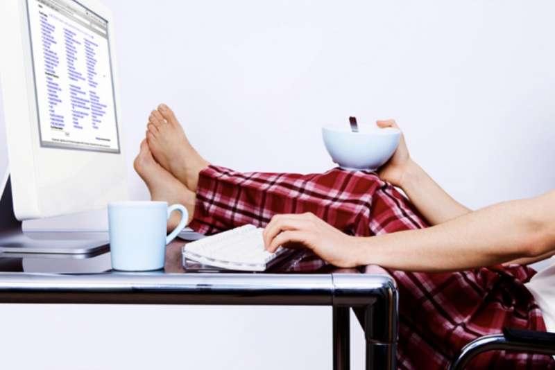 smart working in pigiama 6