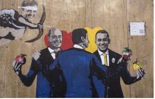Zinga di Maio Conte Renzi