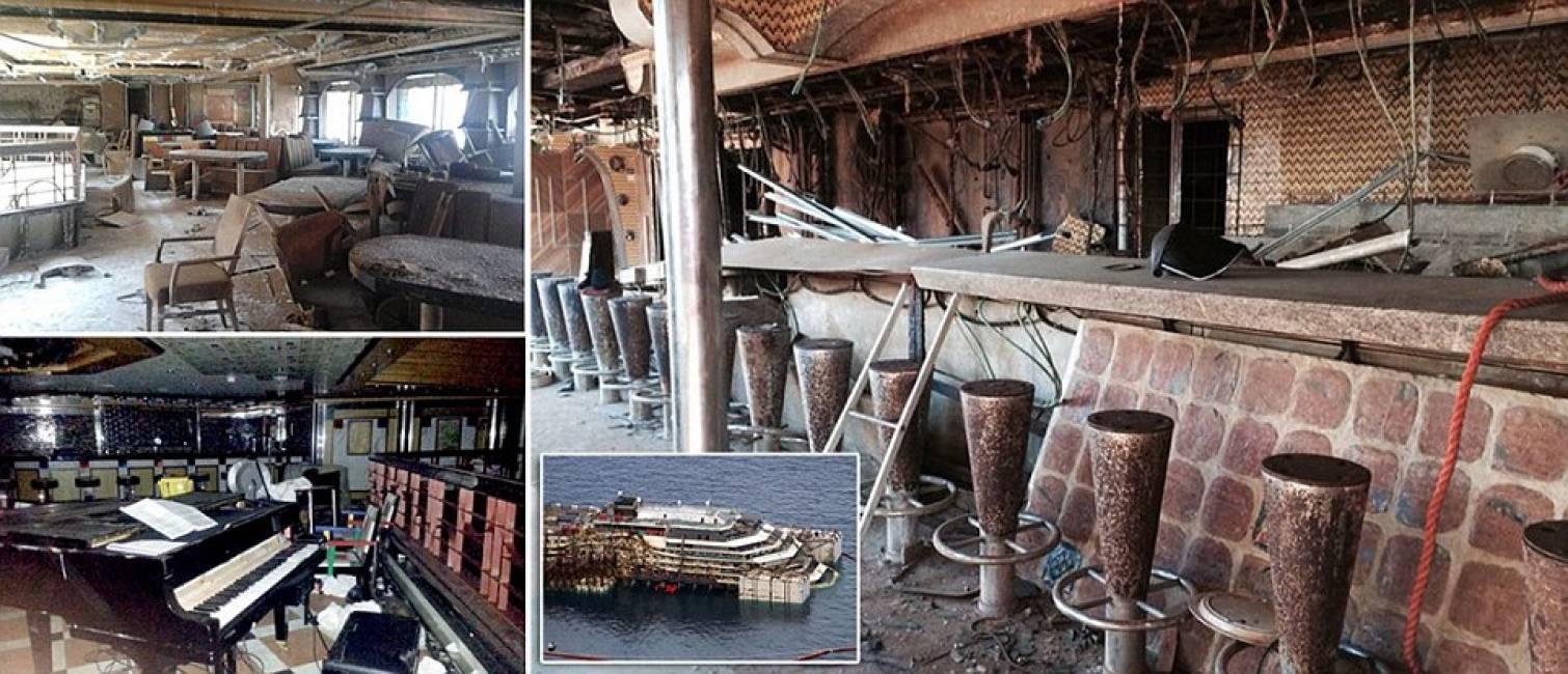 Le nuove e spaventose immagini degli interni della costa for Cabine di giglio selvatico