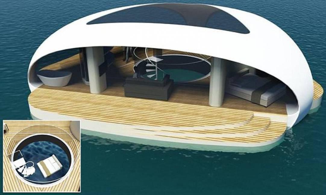 Vacanze galleggianti ecco la villa galleggiante con for Cuscini galleggianti piscina