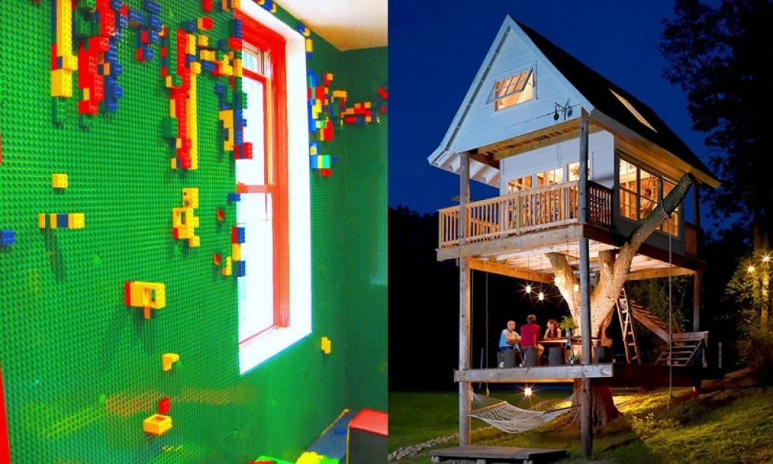 Dallo Scivolo In Camera Da Letto Alle Pareti Di Lego